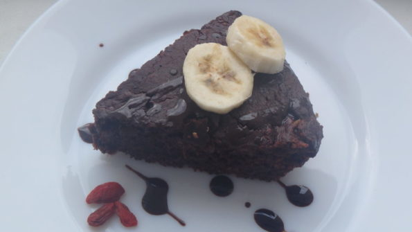 čokoládovo-banánový dort